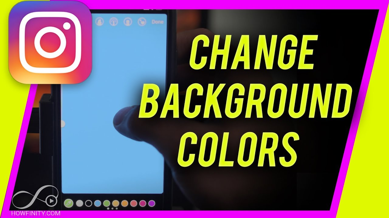 How to change background color on  instagram story